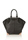 ALEXANDER WANG LARGE EMILE IN PEBBLED BLACK WITH ROSE GOLD  TOTE Adult 8_n_d