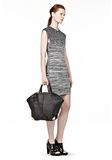 ALEXANDER WANG LARGE EMILE IN PEBBLED BLACK WITH ROSE GOLD  TOTE Adult 8_n_r