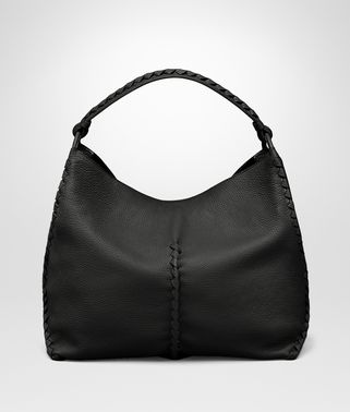 SHOULDER BAG IN NERO CERVO
