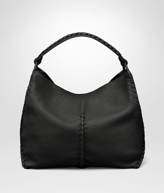 BOTTEGA VENETA SHOULDER BAG IN NERO CERVO Shoulder or hobo bag D fp