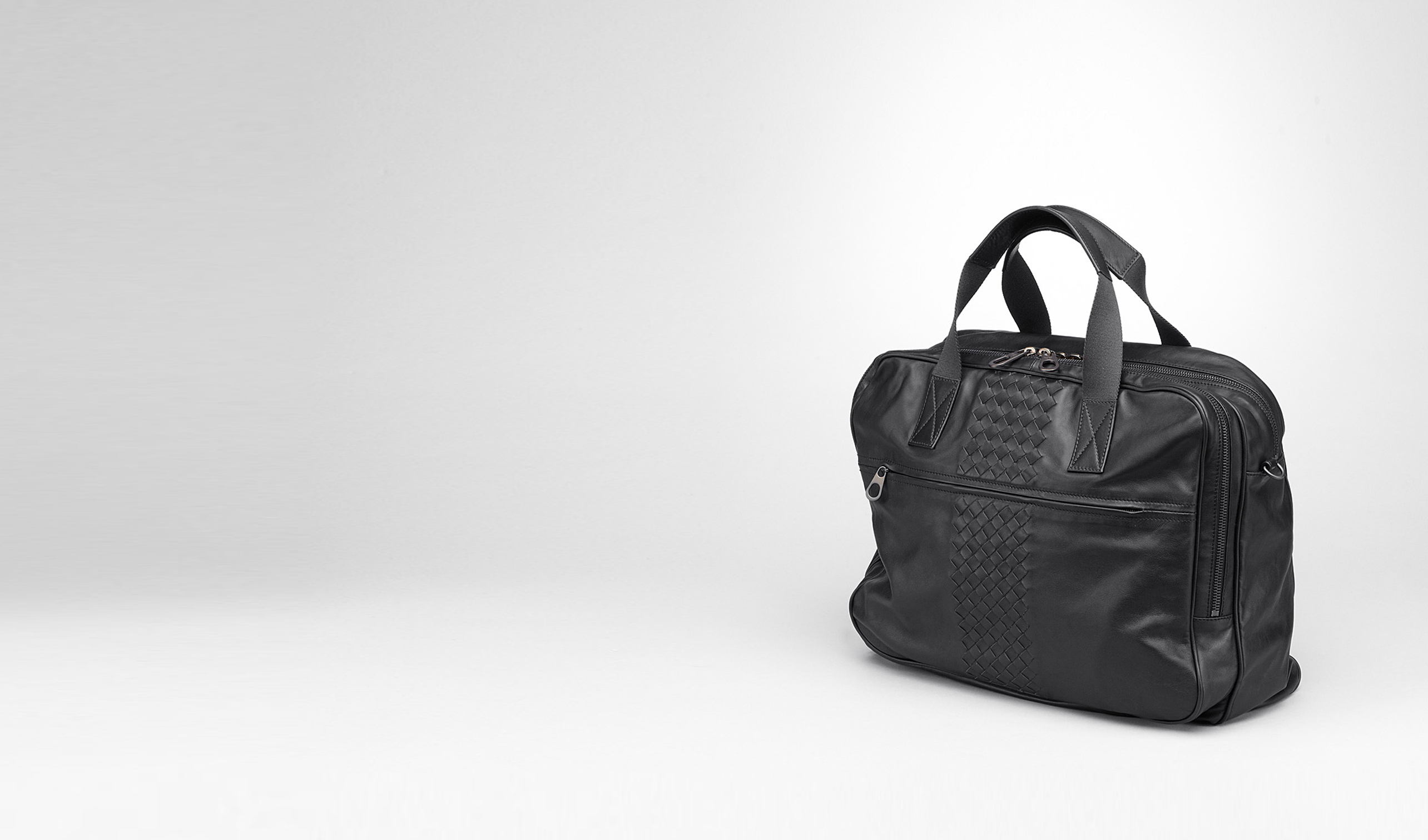 BOTTEGA VENETA Borsa Shopping U Informale Tote Nera in Light Calf pl