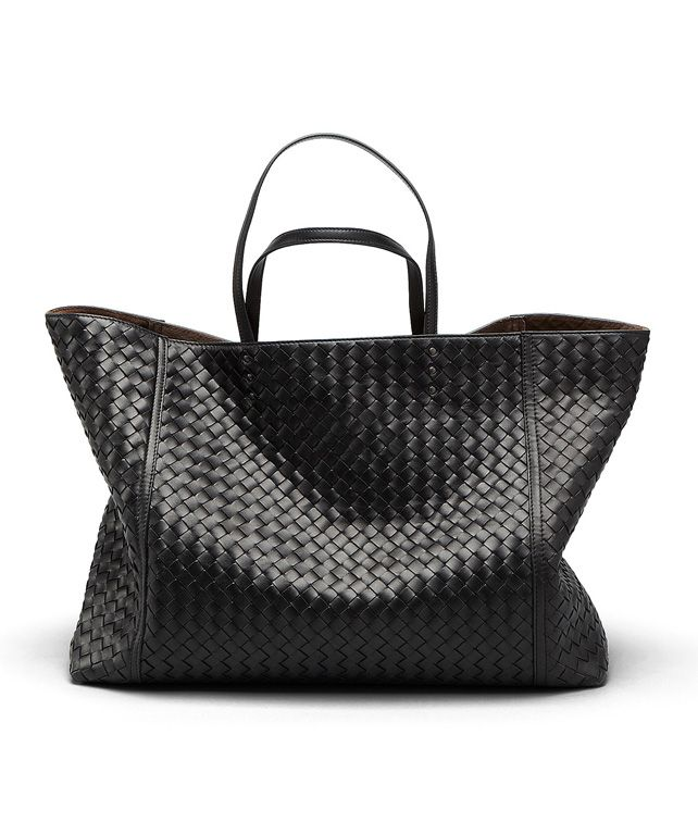 BOTTEGA VENETA TOTE BAG AUS INTRECCIATO NAPPA IN NERO Shopper D fp