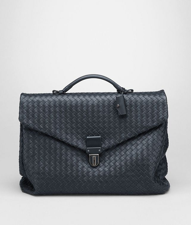 BOTTEGA VENETA Light Tourmaline Intrecciato VN Briefcase Business bag U fp