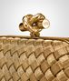 BOTTEGA VENETA INTRECCIATO ORO BRUCIATO KNOT Clutch Woman lp