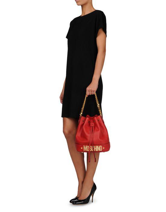 Medium leather bag Woman MOSCHINO