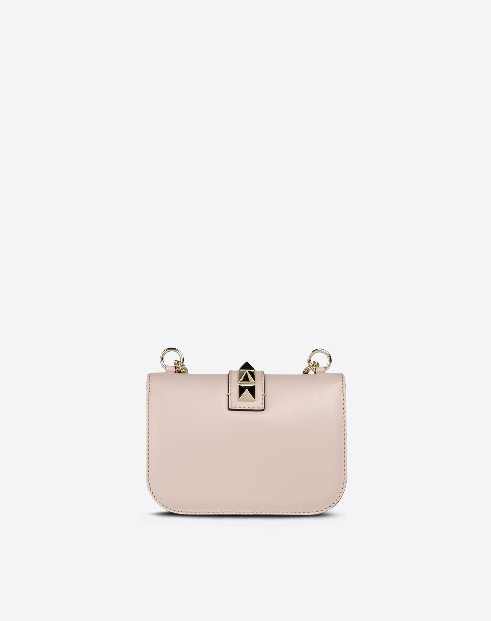 VALENTINO Solid color Framed closure Internal pocket Metallic straps Metallic inserts Logo detail  45212530dh