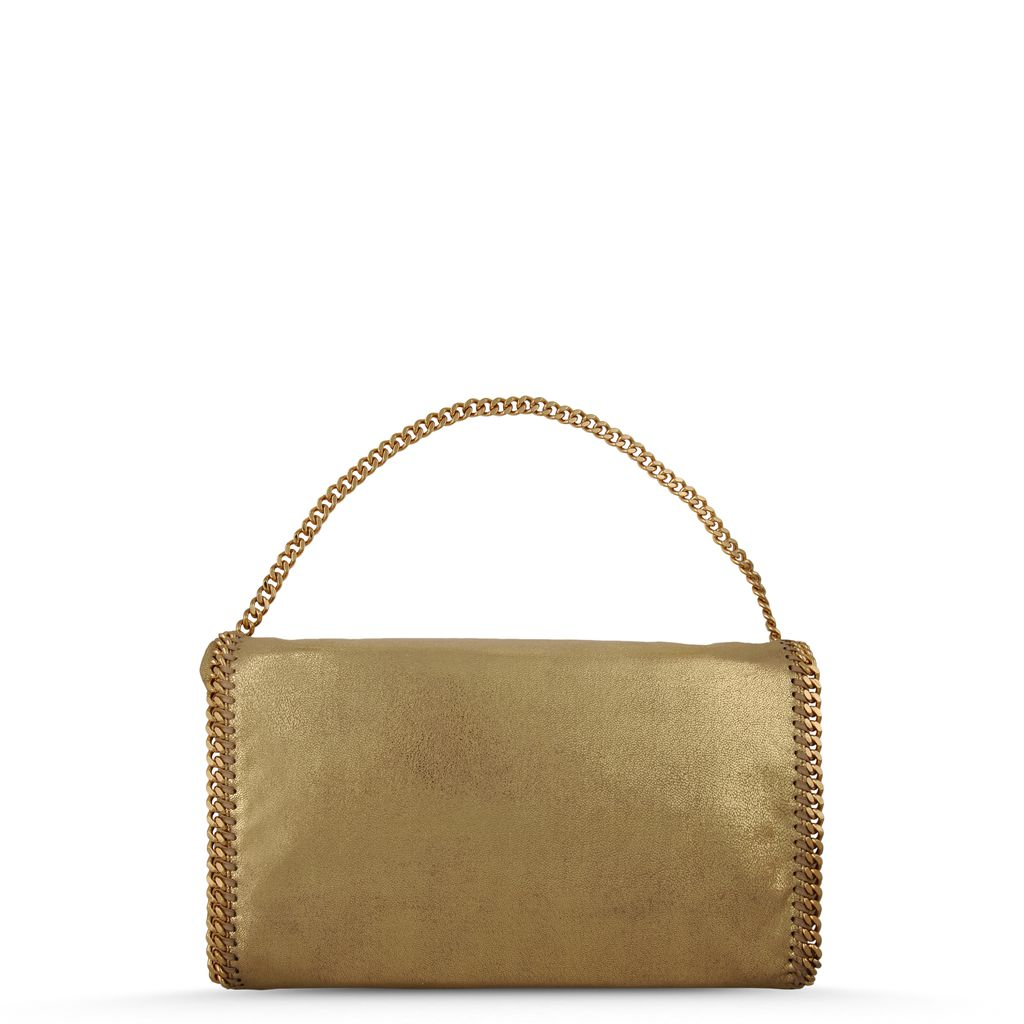 Falabella Fold Over Tote in Chamois  - STELLA MCCARTNEY