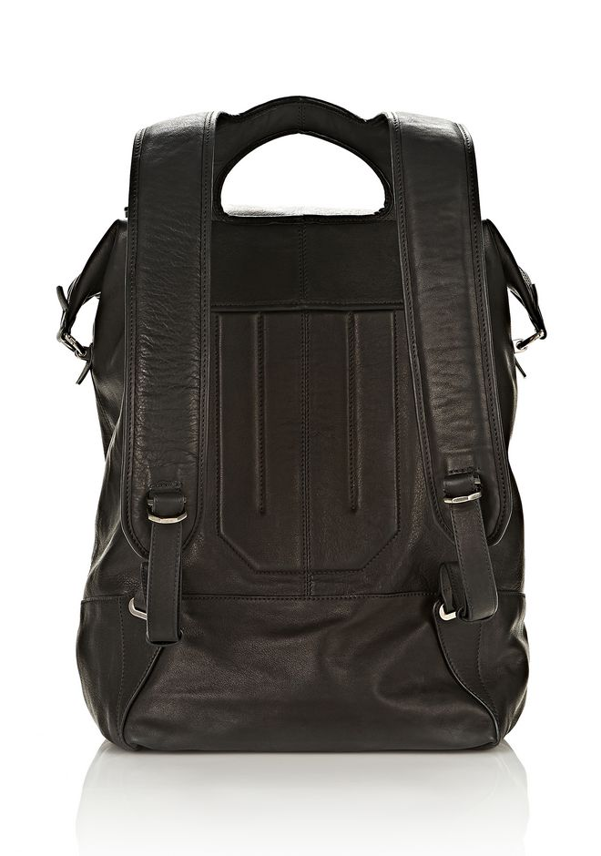 ALEXANDER WANG EXPLORER BACKPACK IN WAXY BLACK WITH MATTE BLACK BACKPACK Adult 12_n_d