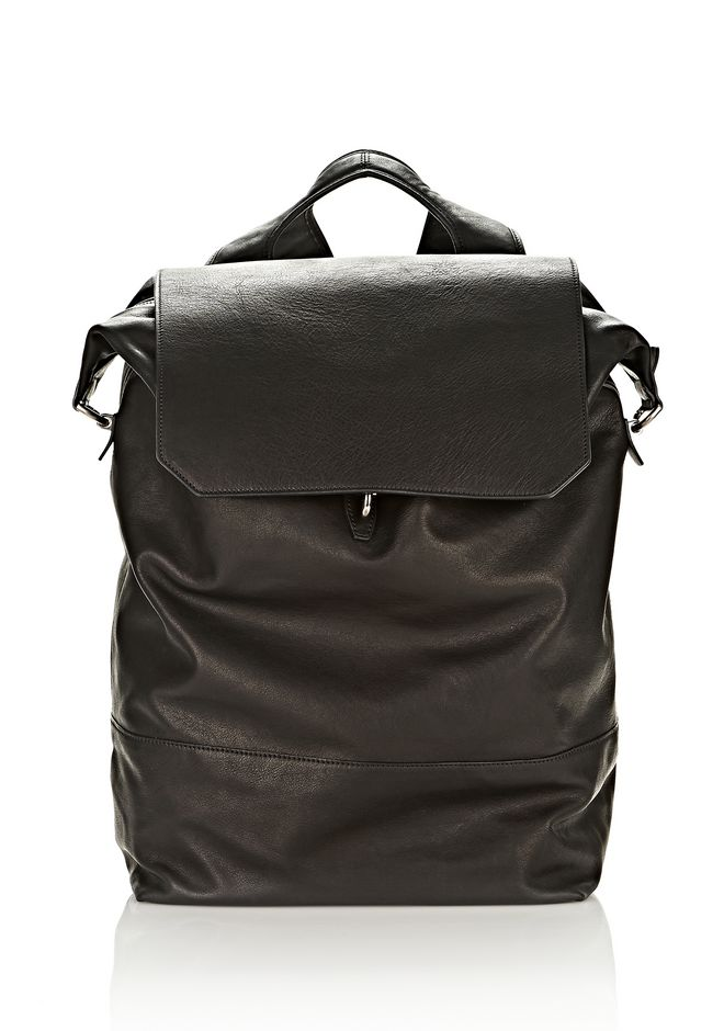 ALEXANDER WANG EXPLORER BACKPACK IN WAXY BLACK WITH MATTE BLACK BACKPACK Adult 12_n_f