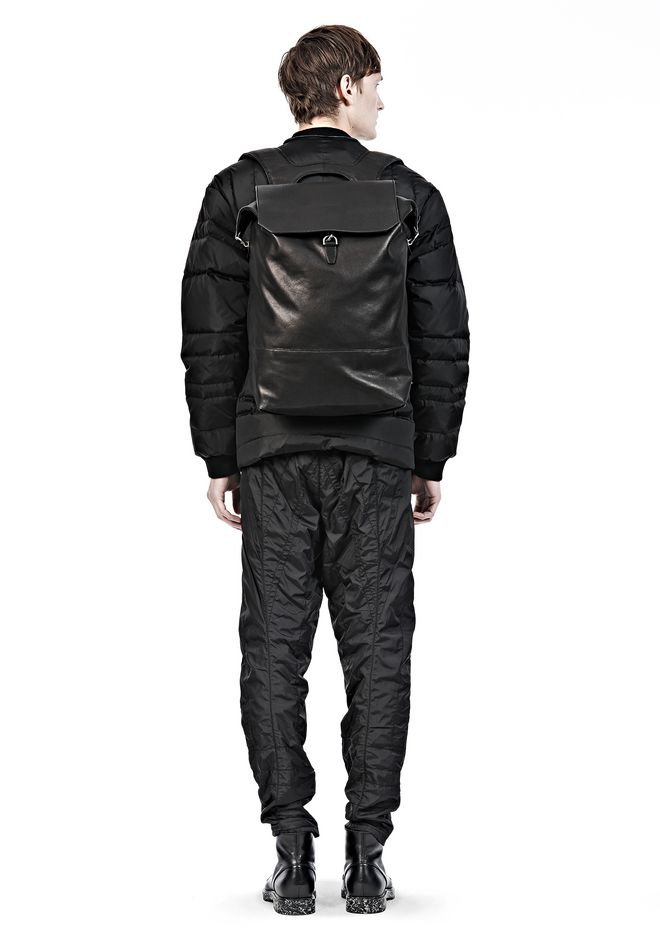 ALEXANDER WANG EXPLORER BACKPACK IN WAXY BLACK WITH MATTE BLACK BACKPACK Adult 12_n_r