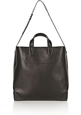 WALLIE CARRYALL SHINY BLACK WITH RHODIUM