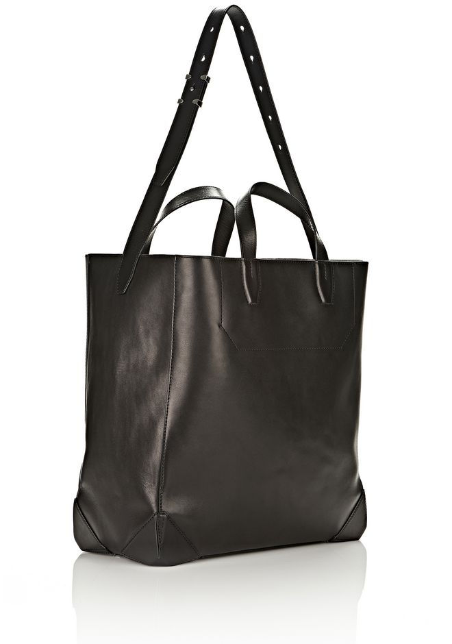 ALEXANDER WANG WALLIE CARRYALL SHINY BLACK WITH RHODIUM Travel Adult 12_n_d