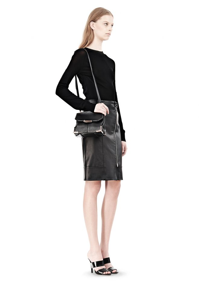 ALEXANDER WANG MARION IN SOFT BLACK WITH ROSEGOLD Shoulder bag Adult 12_n_r