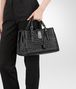 BOTTEGA VENETA SMALL ROMA BAG IN NERO INTRECCIATO CALF Top Handle Bag D ap