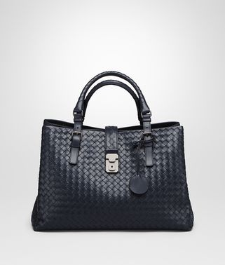 MEDIUM ROMA BAG IN PRUSSE INTRECCIATO CALF