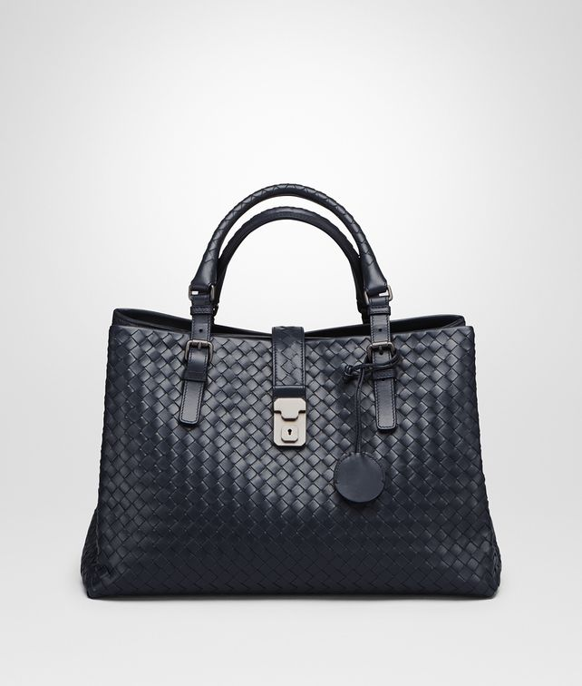 BOTTEGA VENETA PRUSSE INTRECCIATO CALF MEDIUM ROMA BAG Top Handle Bag       pickupInStoreShipping info 68f7993cd8fb8