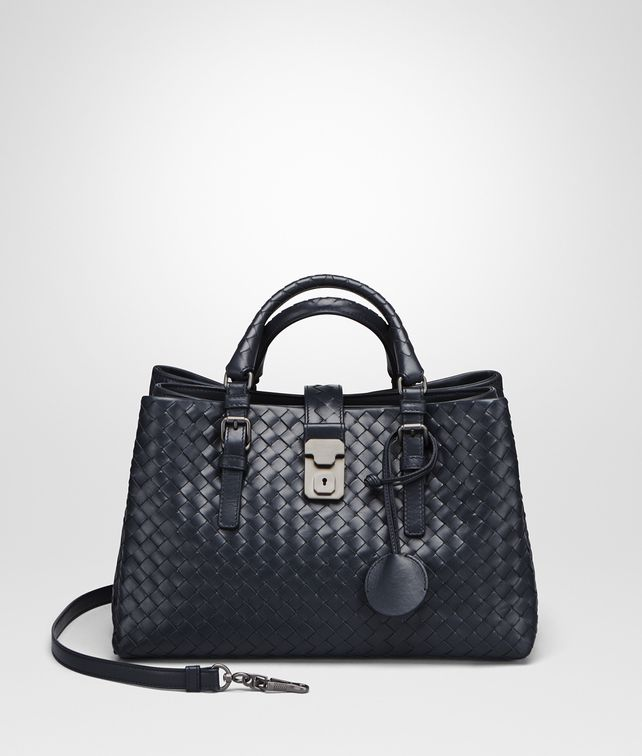 5efe03f555 BOTTEGA VENETA PRUSSE INTRECCIATO CALF SMALL ROMA BAG Top Handle Bag       pickupInStoreShipping info
