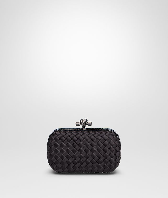 BOTTEGA VENETA KNOT CLUTCH IN NERO INTRECCIO IMPERO, AYERS DETAILS Clutch D fp