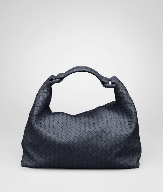 BOTTEGA VENETA Borsa Sloane Prusse in Light Calf Intrecciato Borsa a spalla D fp
