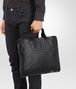 BOTTEGA VENETA BRIEFCASE IN NERO CALF, INTRECCIATO DETAILS Business bag Man ap