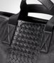 BOTTEGA VENETA BRIEFCASE IN NERO CALF, INTRECCIATO DETAILS Business bag Man ep