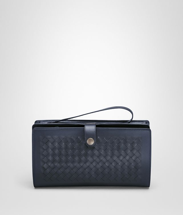 BOTTEGA VENETA MULTI-FUNCTIONAL CASE IN PRUSSE CALF, INTRECCIATO DETAILS Small bag U fp