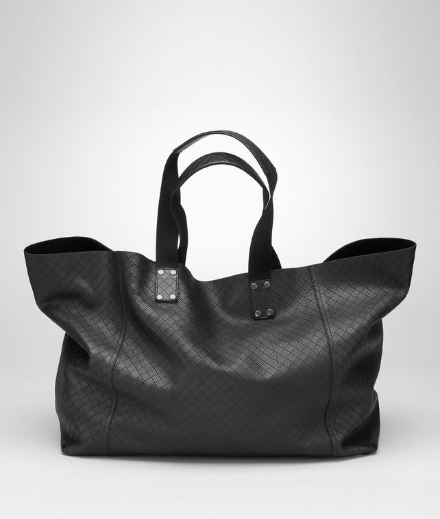 BOTTEGA VENETA Shopper aus Intrecciomirage Lavé Nero Shopper U fp