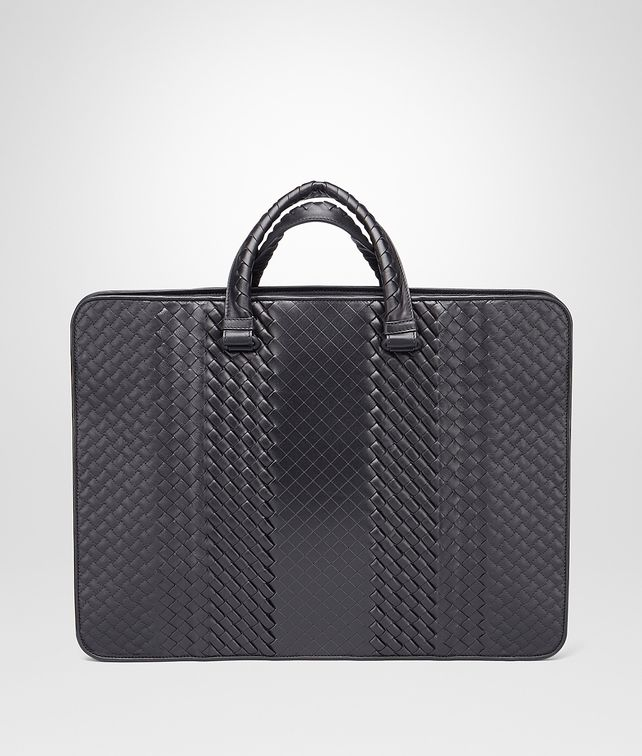 BOTTEGA VENETA BRIEFCASE IN NERO INTRECCIO IMPERATORE Business bag U fp
