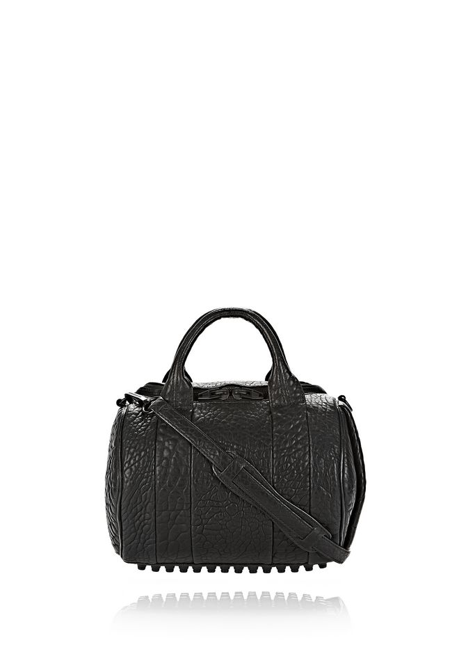 ALEXANDER WANG Shoulder bags ROCKIE IN PEBBLED BLACK WITH MATTE BLACK
