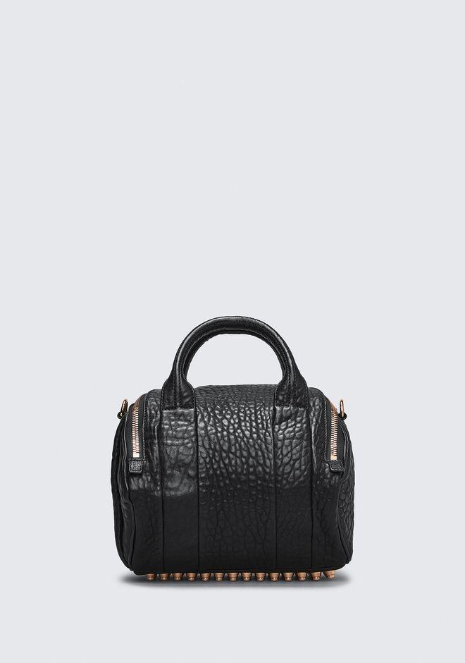 ALEXANDER WANG ROCKIE IN PEBBLED BLACK WITH ROSE GOLD Shoulder bag Adult 12_n_d