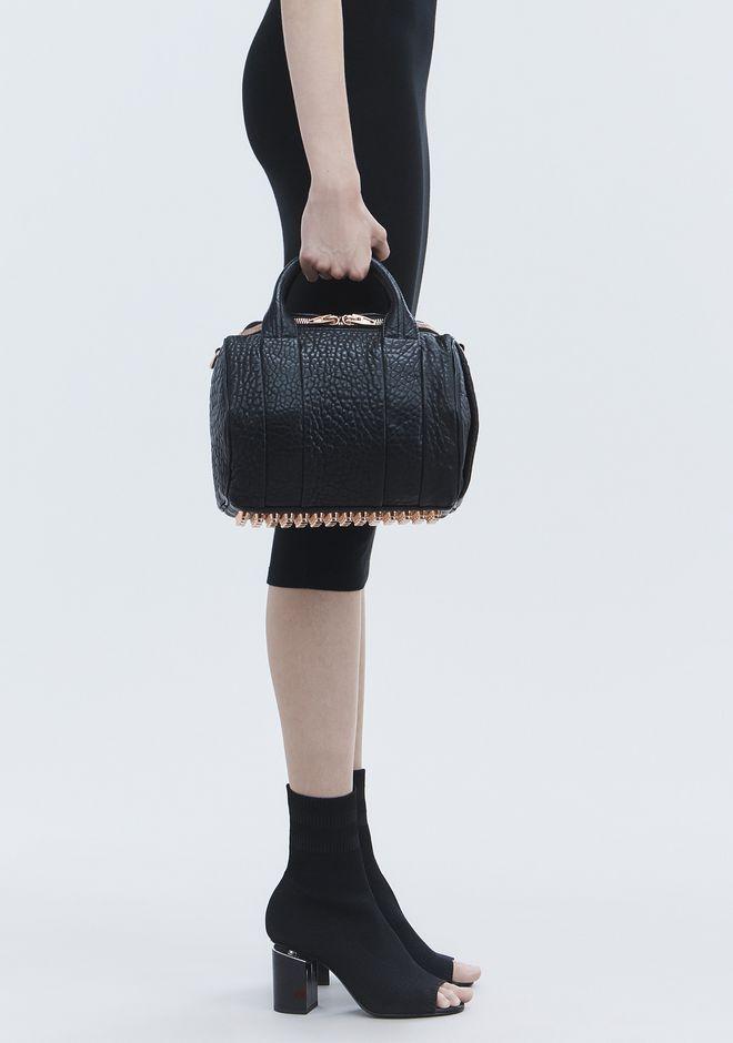 ALEXANDER WANG ROCKIE IN PEBBLED BLACK WITH ROSE GOLD Shoulder bag Adult 12_n_r