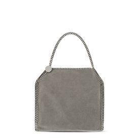 STELLA McCARTNEY Tote D Light Grey Falabella Shaggy Deer Small Tote f