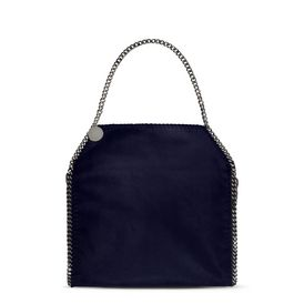 STELLA McCARTNEY Tote D Navy Falabella Shaggy Deer Big Tote f