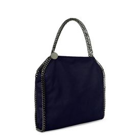 Navy Falabella Shaggy Deer Big Tote
