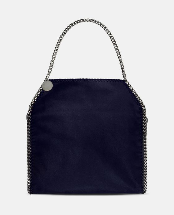 STELLA McCARTNEY Navy Falabella Shaggy Deer Big Tote Tote D c