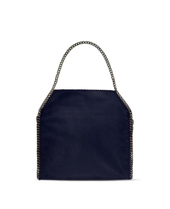 STELLA McCARTNEY Navy Falabella Shaggy Deer Big Tote Tote D i