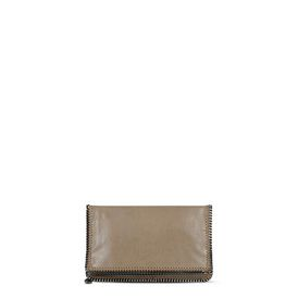 STELLA McCARTNEY Falabella Clutches D Falabella Chamois Fold Over Clutch f