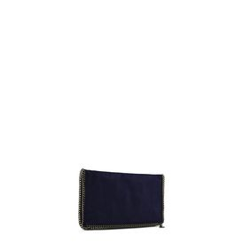 Navy Falabella Shaggy Deer Fold Over Clutch