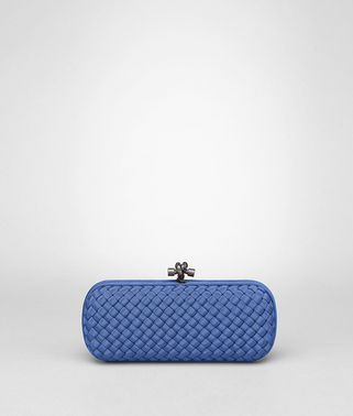 STRETCH KNOT CLUTCH IN ELECTRIQUE INTRECCIO FAILLE MOIRE