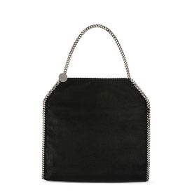 STELLA McCARTNEY Tote D Black Falabella Shaggy Deer Big Tote f