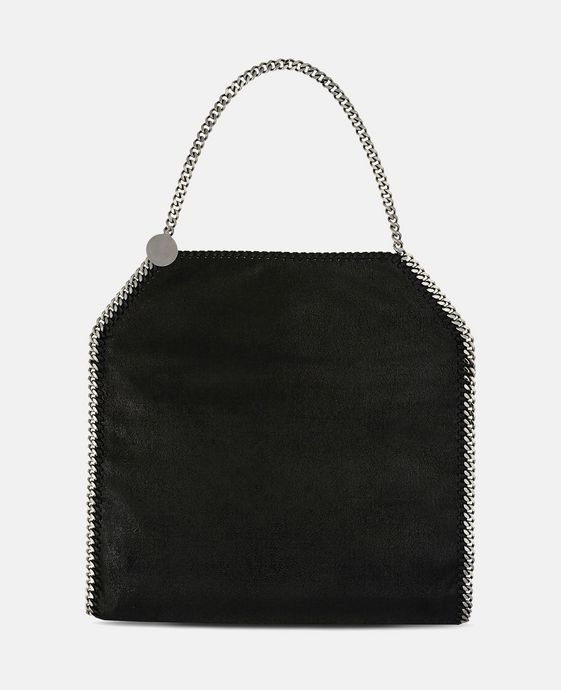 STELLA McCARTNEY Black Falabella Shaggy Deer Big Tote Tote D c