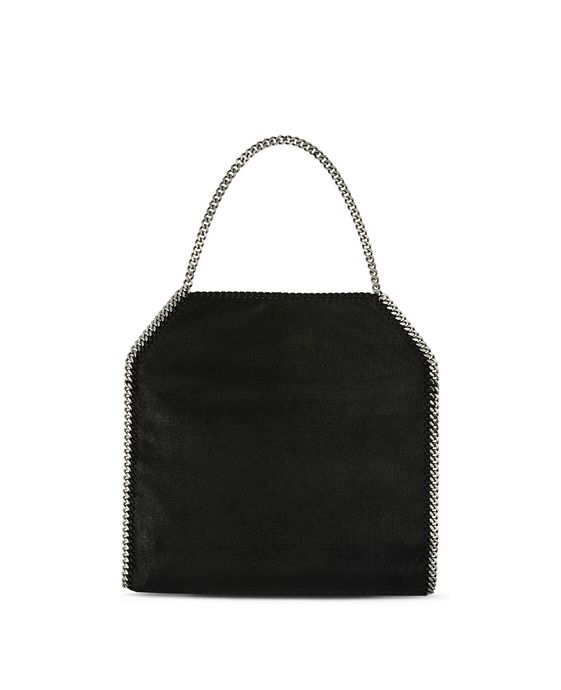 STELLA McCARTNEY Black Falabella Shaggy Deer Big Tote Tote D i
