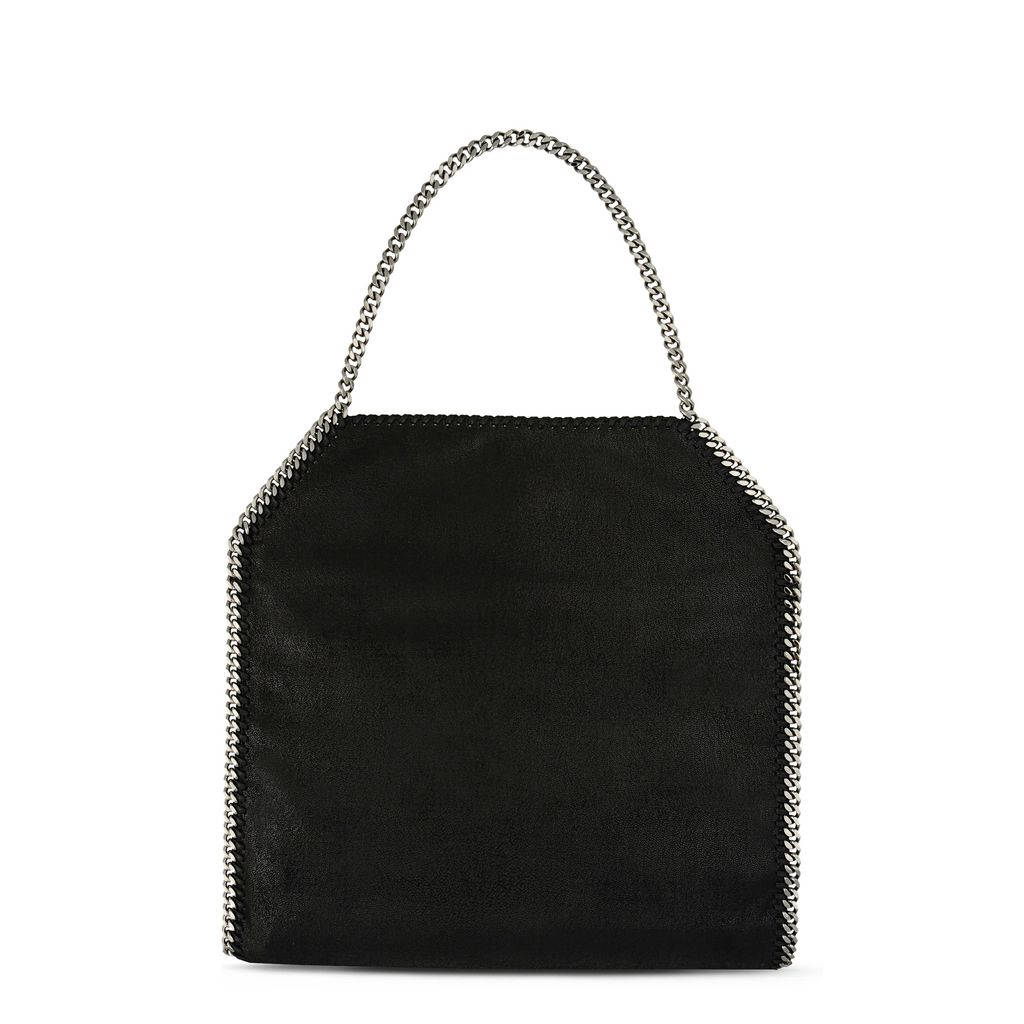 Black Falabella Shaggy Deer Big Tote  - STELLA MCCARTNEY
