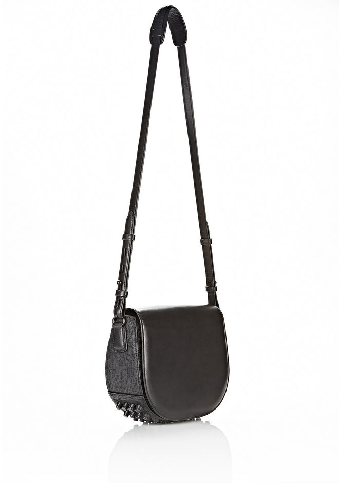 ALEXANDER WANG EXCLUSIVE LIA VAULT IN EMBOSSED BLACK WITH MATTE BLACK Shoulder bag Adult 12_n_d
