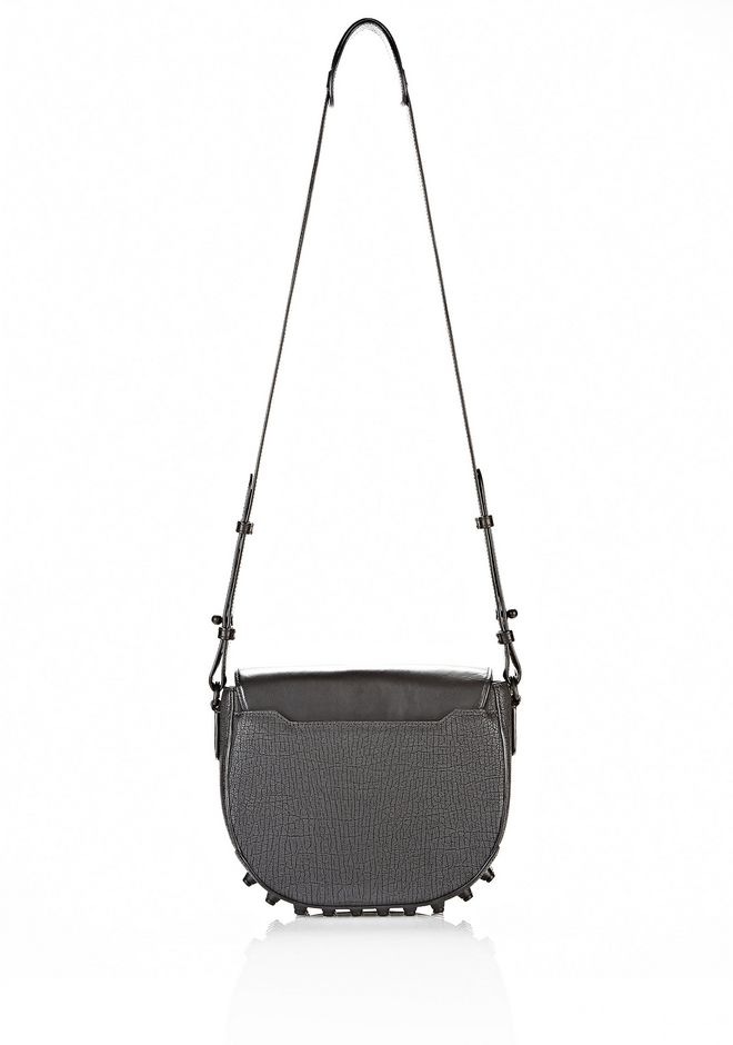 ALEXANDER WANG EXCLUSIVE LIA VAULT IN EMBOSSED BLACK WITH MATTE BLACK Shoulder bag Adult 12_n_e