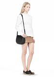 ALEXANDER WANG EXCLUSIVE LIA VAULT IN EMBOSSED BLACK WITH MATTE BLACK Shoulder bag Adult 8_n_r