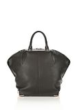 ALEXANDER WANG LARGE SKELETAL EMILE IN SOFT PEBBLED BLACK WITH ROSE GOLD TOTE/DEL Adult 8_n_d