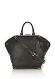 ALEXANDER WANG LARGE SKELETAL EMILE IN SOFT PEBBLED BLACK WITH ROSE GOLD TOTE/DEL Adult 8_n_f
