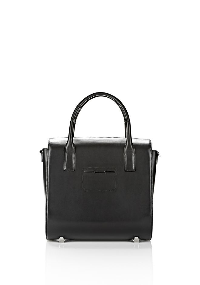 ALEXANDER WANG LARGE CHASTITY IN BLACK WITH RHODIUM  TOTE Adult 12_n_d