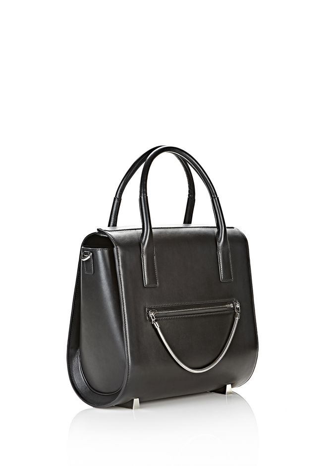 ALEXANDER WANG LARGE CHASTITY IN BLACK WITH RHODIUM  TOTE/DEL Adult 12_n_e